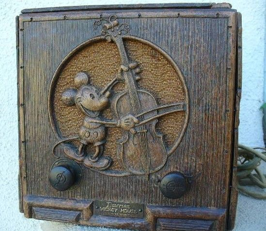 Vintage Mickey Mouse 1933 Emerson Tube Radio Ebay Vintage Mickey Vintage Mickey Mouse Vintage Radio