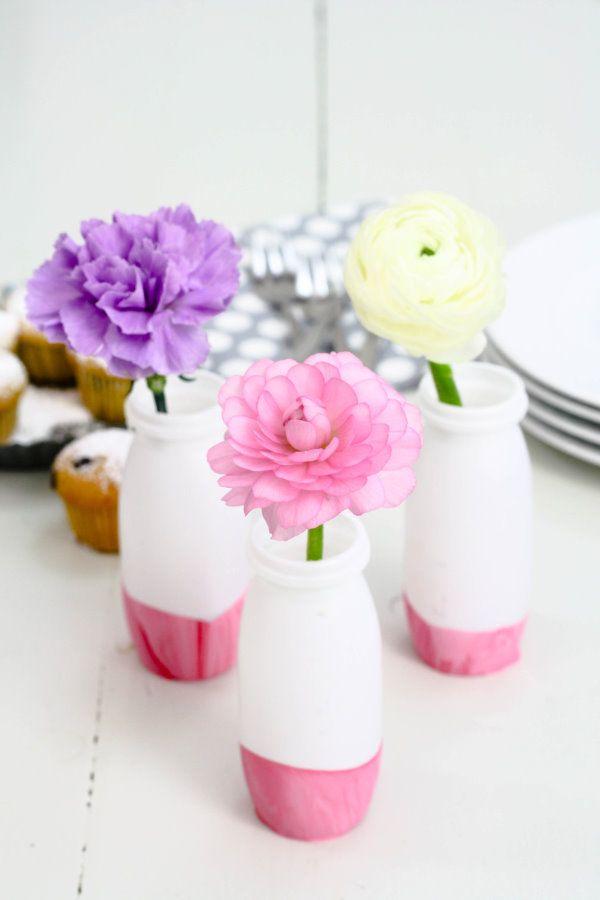 actimel fl schchen nagellack h bsche vase f r mama. Black Bedroom Furniture Sets. Home Design Ideas