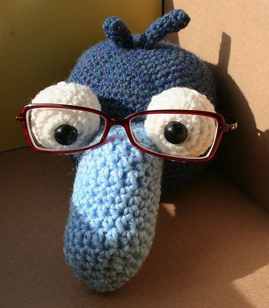 Crochet Muppet Glasses Holder