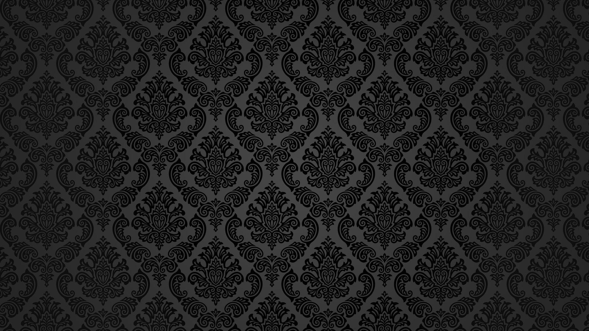 Black Vintage Wallpaper Patterns Retro Vintage Wallpapers