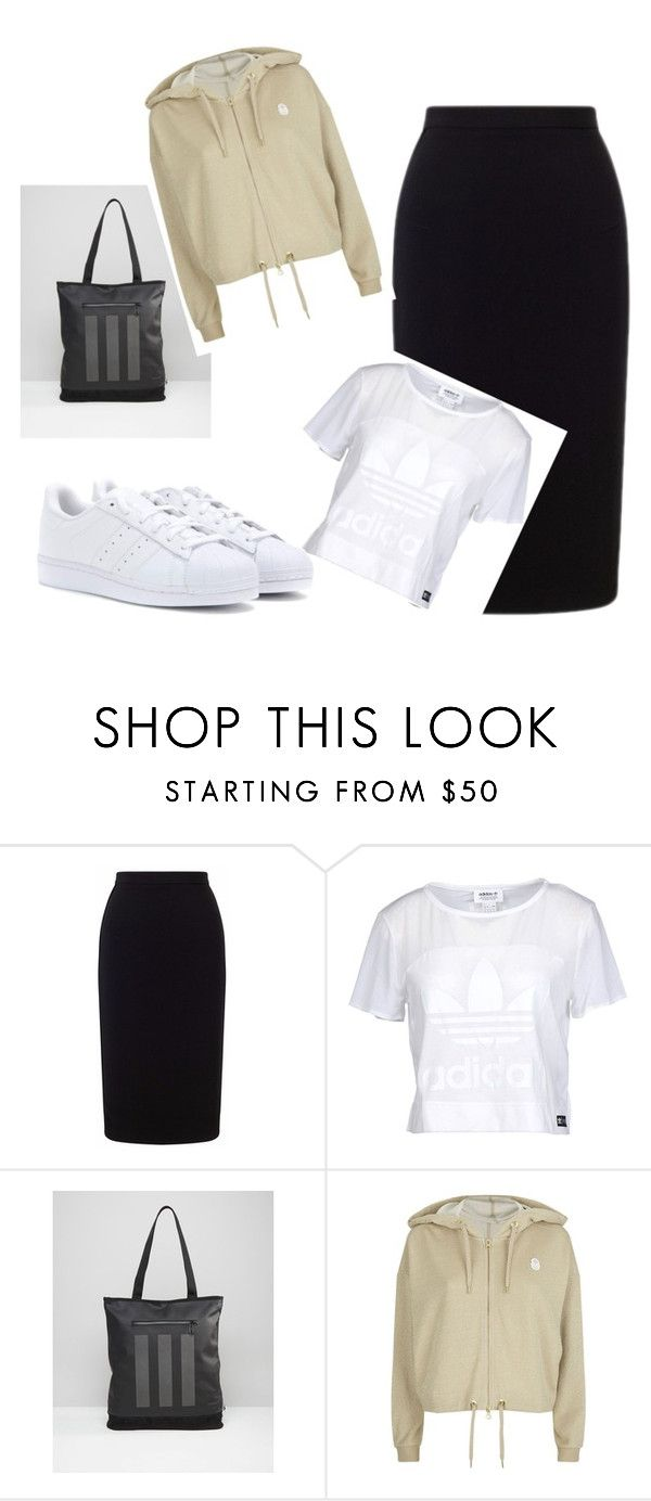"""Untitled"" by alexandratahau on Polyvore featuring Roland Mouret, adidas Originals and adidas"