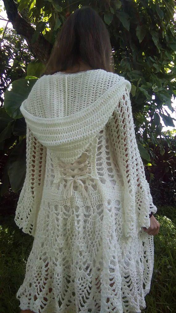Pattern: Fairy Queen Coat / Pineapple crochet / Cardigan / Jacket / Wrap dress #ponchodress