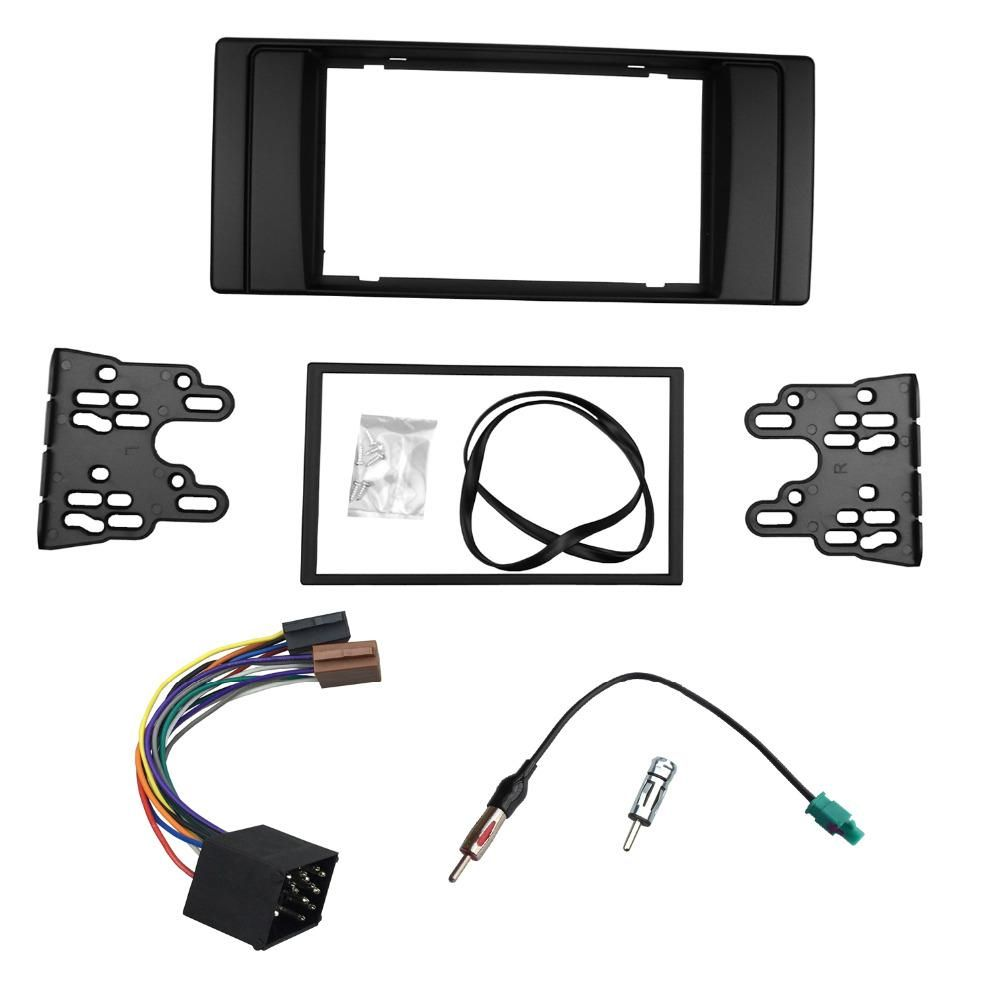 hight resolution of  visit to buy double din fascia for bmw series 5 e53 e39 radio dvd stereo panel dash trim kit frame with wiring harness antenna aerial adaptor