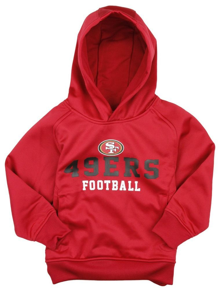 a7db743b8 NFL Little Boys Kids San Francisco 49ers Team Performance Pullover Hoodie