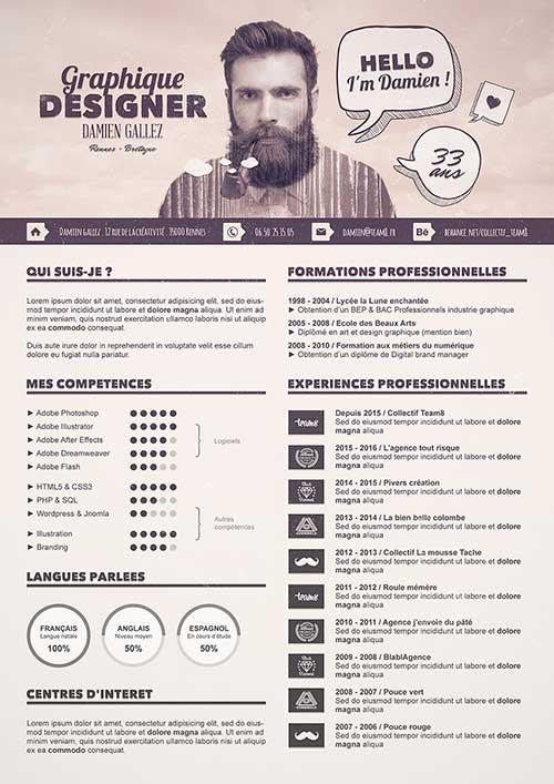Creativos ejemplos de Currículums para diseñadores gráficos en 2020 | Curriculums creativos ...