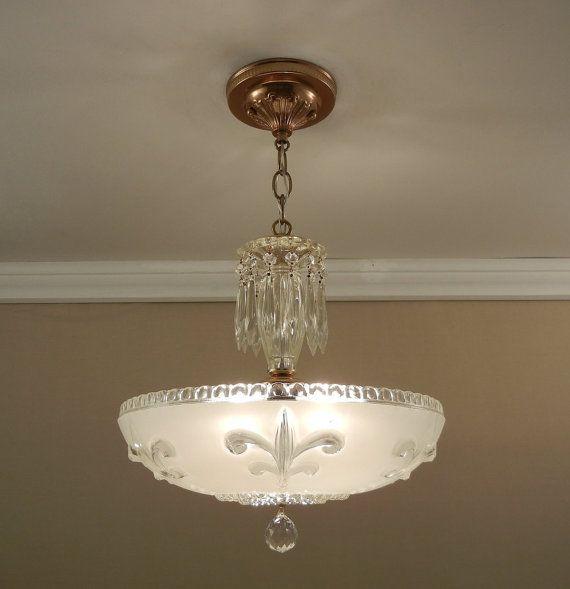 Antique Chandelier 1930 S Vintage Fleur De Lis Winter Vintage Ceiling Light Fixtures Antique Chandelier Crystal Chandelier