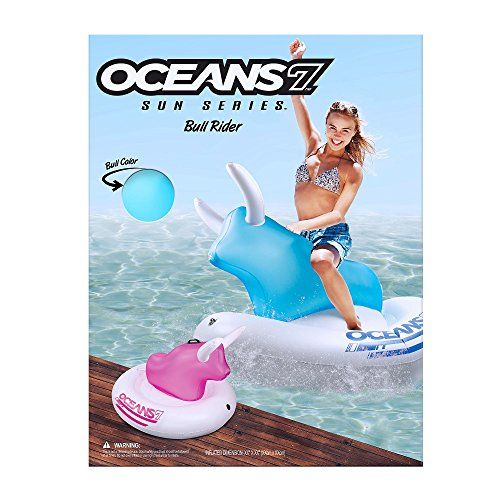 Ocean 7 Inflate-the-Bull Assortment, Blue ** Details Can