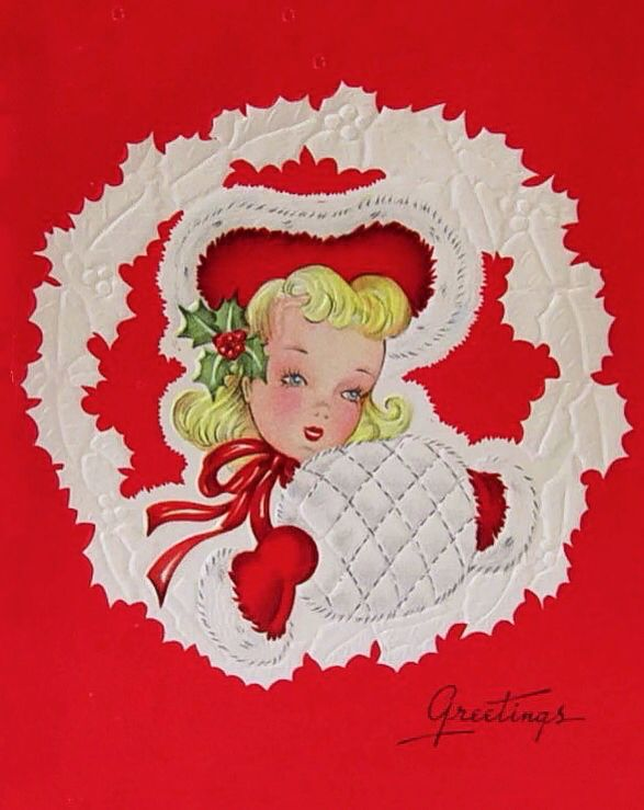 Beautiful Christmas card girl Christmas Girls Pinterest
