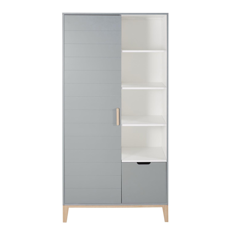 Grey Blue Vintage 2 Door 1 Drawer Wardrobe In 2020 Portable