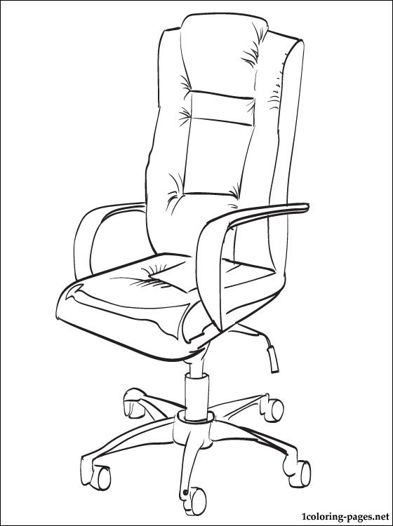 Pin By Bayan On تصميم Office Chair Coloring Pages Chair