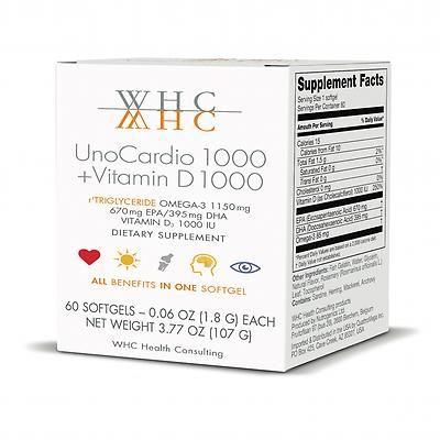 WHC UnoCardio 1000 + Vitamin D 1000 (With images