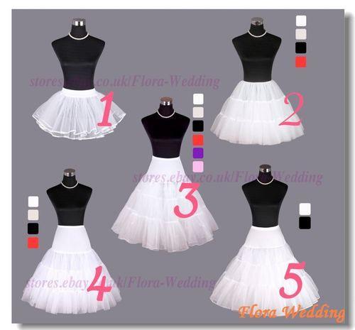 Vintage Retro 3 colour Tutu Rock Roll Petticoat Underskirt Fancy Wedding