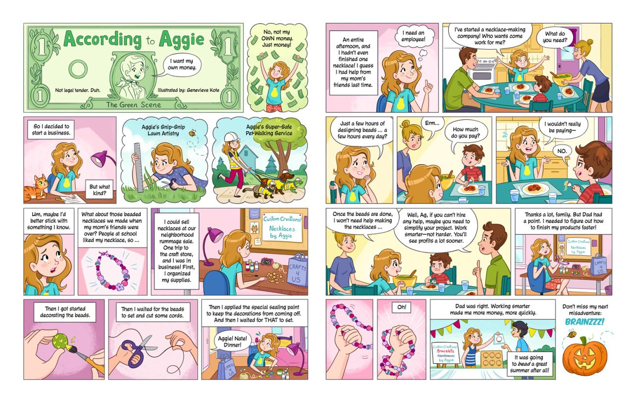 According To Aggie Comic For The July August Issue Of