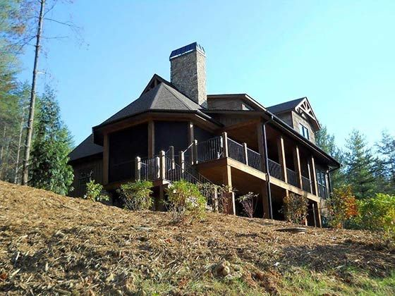 4 bedroom rustic house plan with porches mountain house