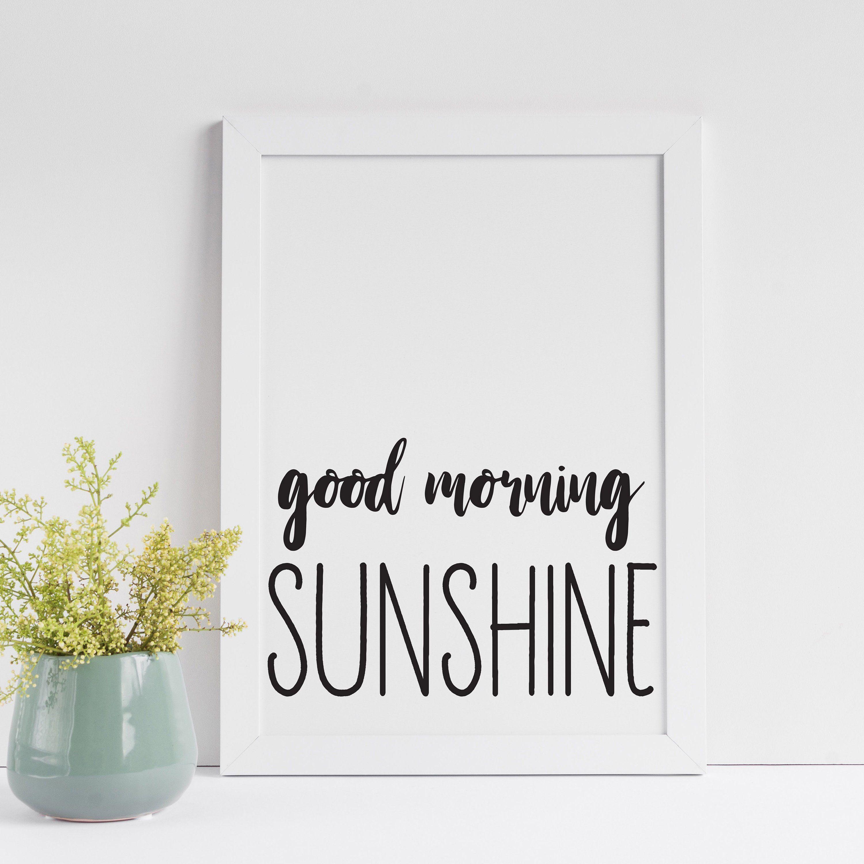 morning sunshine typography vibes