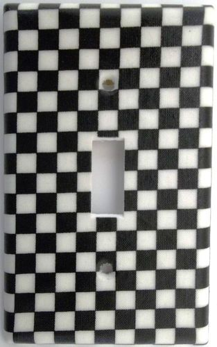 Nascar Racing Checkered Flag Light Switch Outlet Plate Cover