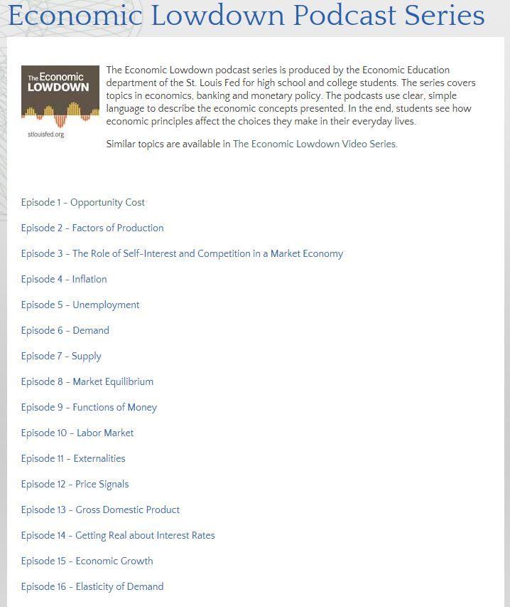 Economic Lowdown Podcast Series Economics Lessons Economics Lessons College Education