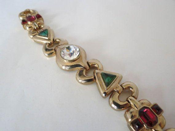 Quality Bracelet W/ Glass Cabochons & Large by DecatiqueStudios, $60.00