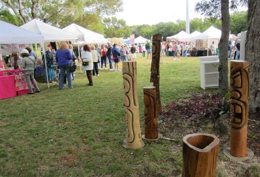 Art Under the Oaks arts and craft show today in Islamorada