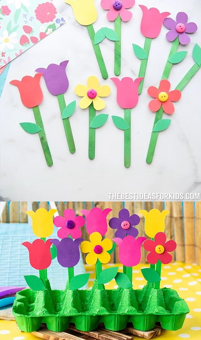 Photo of Egg Carton Garden Craft