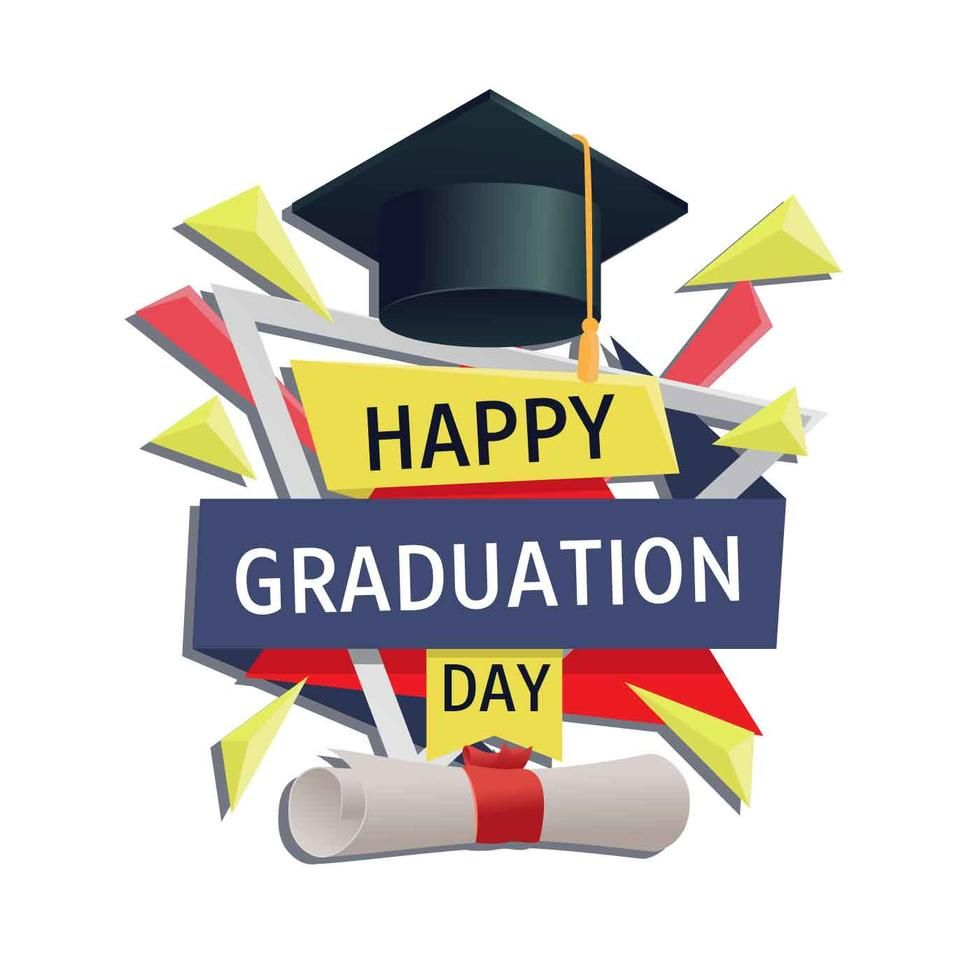 Graduation Card Vector Template Graduation Cards Graduation Templates Happy Graduation Day