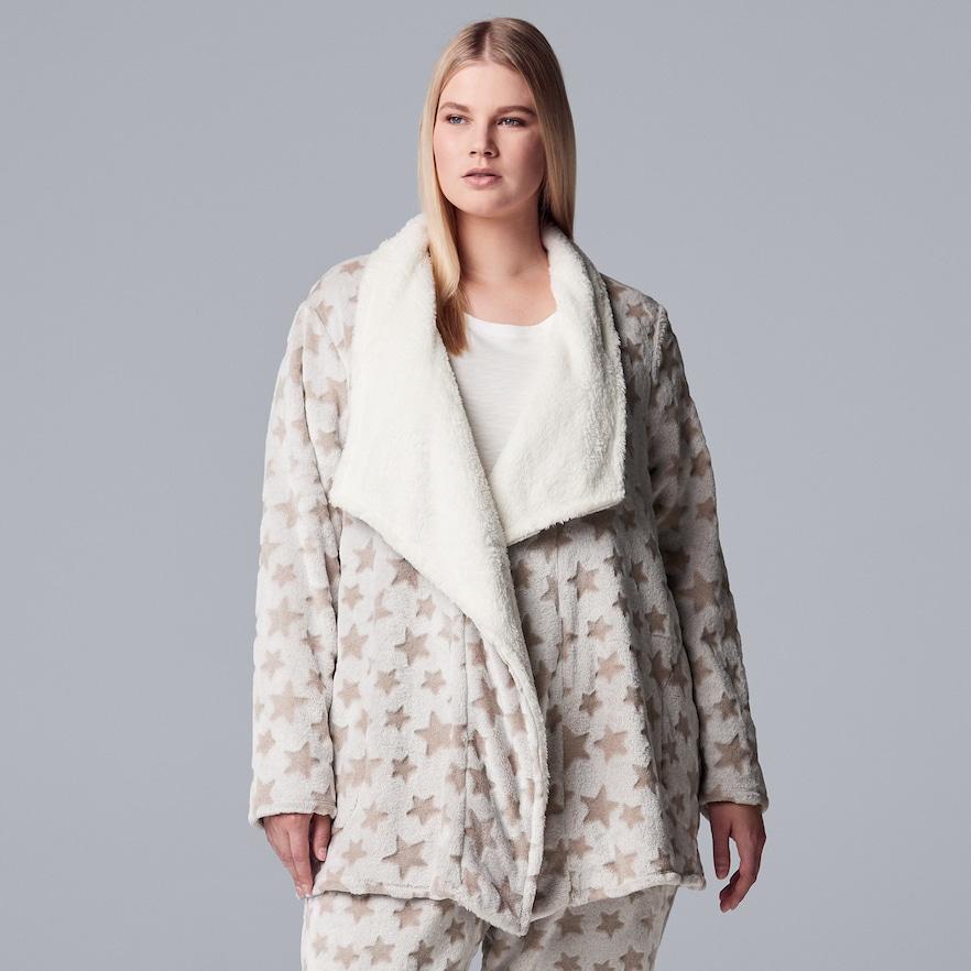 6efb8eab686 Plus Size Simply Vera Vera Wang Chenille Wrap Cardigan