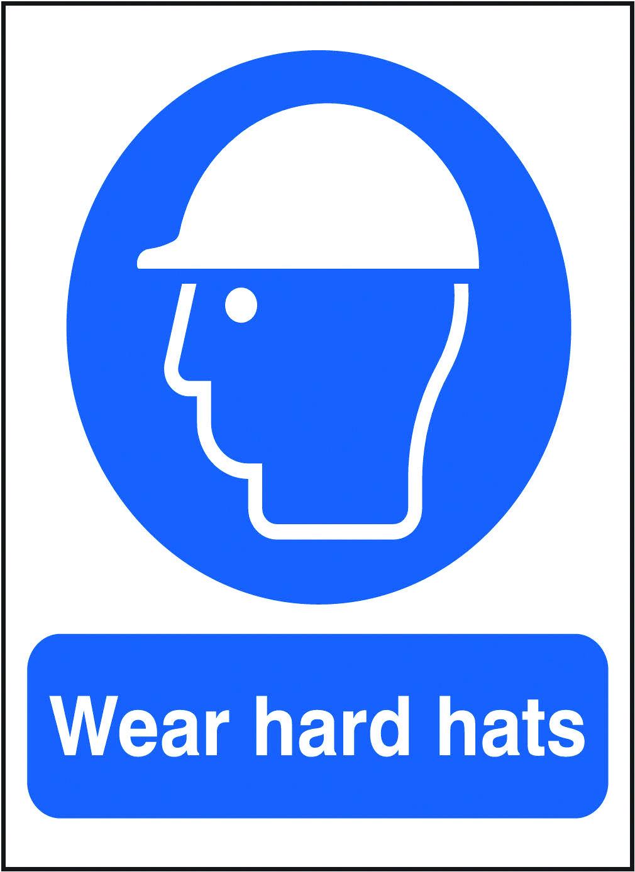 Wear hard hats sign. Beaverswood Identification