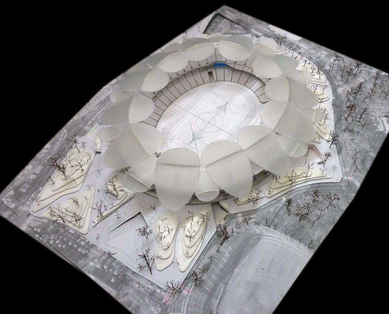 Tokyo Stadium, Jackson Architects #arquitectura #maquetas #deportes #estadios
