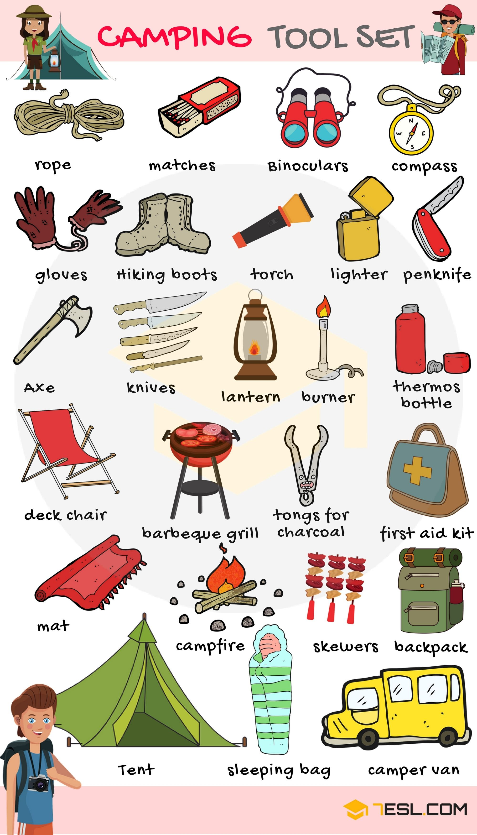 Camping Checklist: Useful Camping List with Pictures #campingpictures