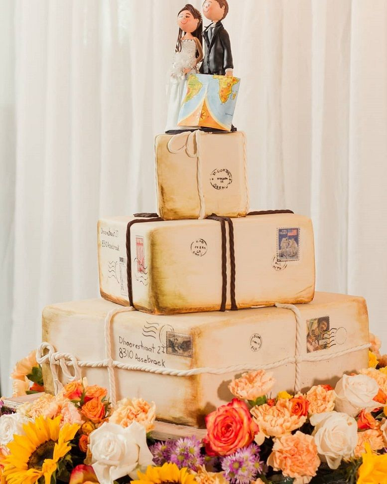 37 Eye-Catching Unique Wedding Cakes -  wedding cake #weddingcake #weddingcakes
