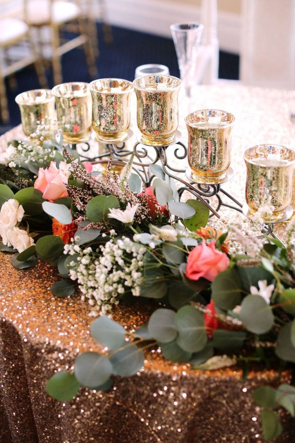 Sequins And Mercury Decors Are Perfect Wedding Decorations For A Rustic Glam