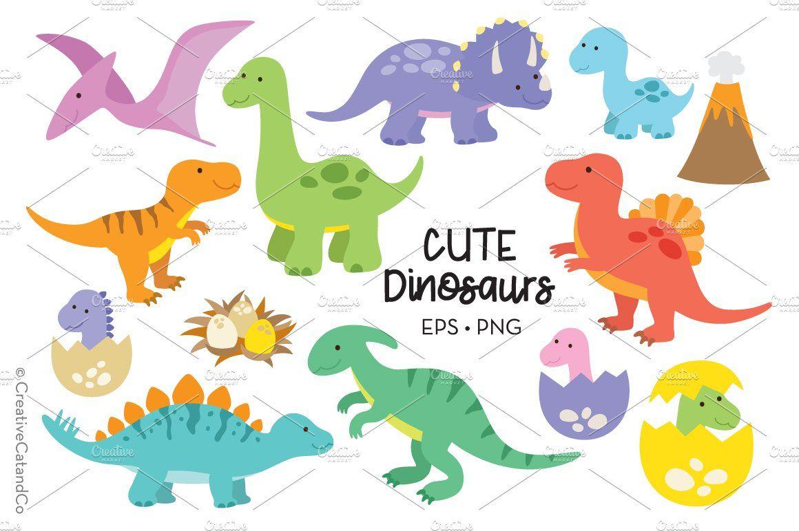 Cute Dinosaur T Rex Raptor Eps Png Cute Dinosaur Dinosaur Dinosaur Clip Art