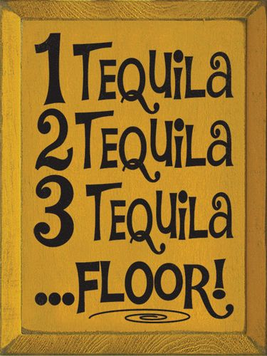 1 Tequila 2 Tequila 3 Tequila Floor Tacos And Tequila Tequila Quotes Tequila Shots Ideas