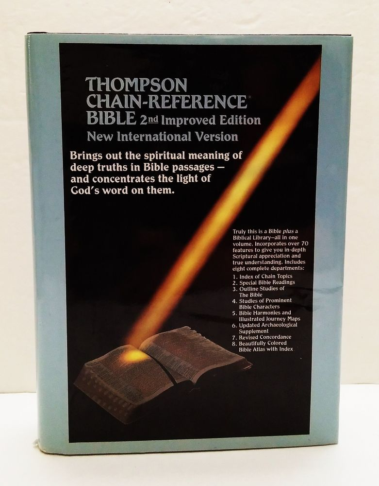 Thompson ChainReference Bible NIV Red Letter 2nd Improved