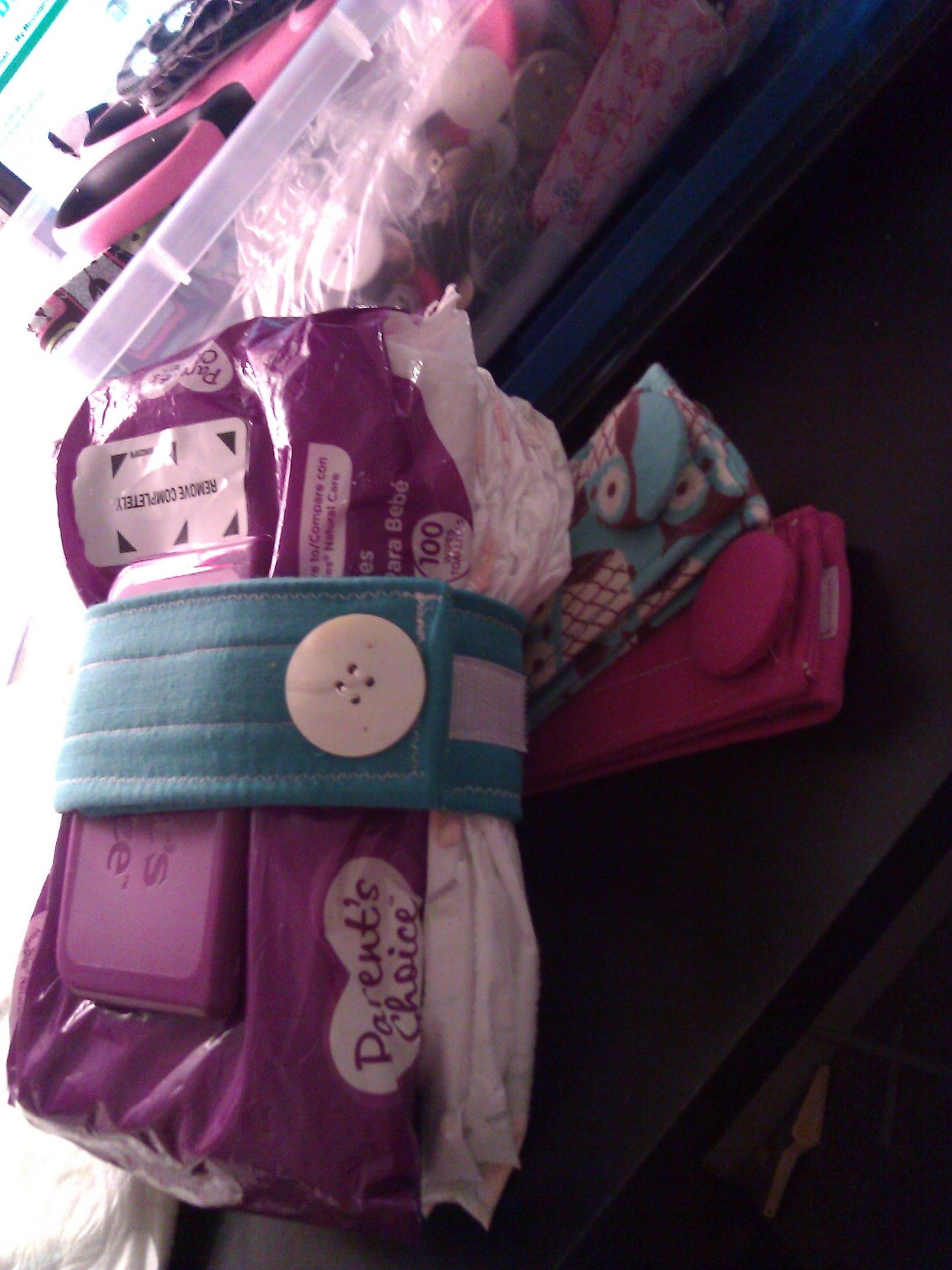 diaper straps!can put the baby wipes with it too. great ...