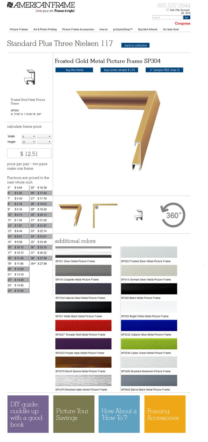 a43ca6b6bbd The new frame detail page allows you to see all the details about each of  our frames