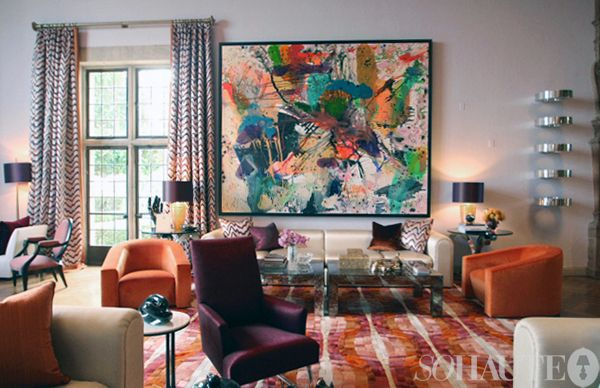 The First Floor Living Room At Maison De Luxe Designed By Jamie Drake