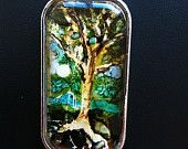 Summer Nights Had Me A Blast Tree Art Pendant Necklace