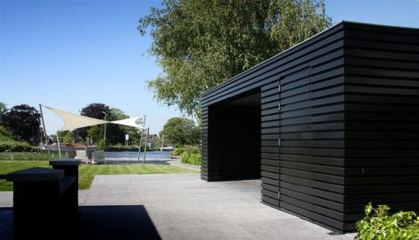 Tuinhuis overdekt terras buitenberging garden studio pinterest