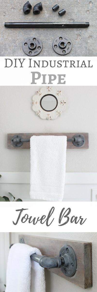 Simply Beautiful Bathrooms: DIY Industrial Pipe Towel Bar