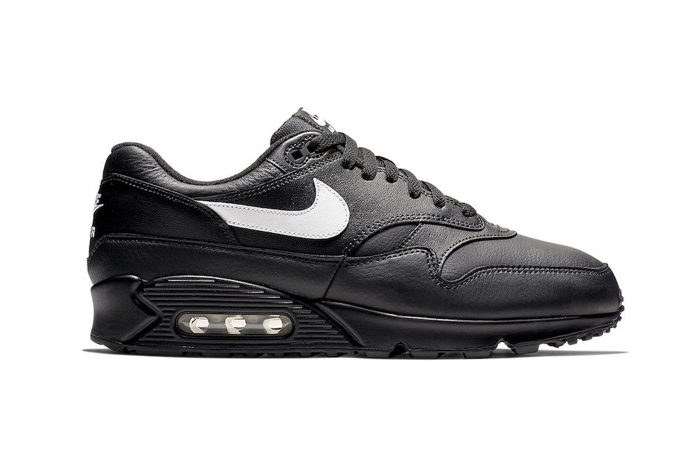 """5c766f60d621 Nike Adds """"Black Leather"""" to Growing Air Max 90 1 Lineup in 2018 ..."""
