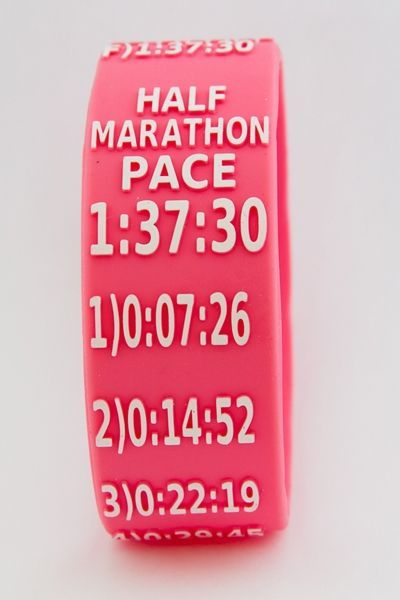 I Found Another Thing Want How Cool Is This Full And Half Marathon Pace Band Featured In Erica Cerulo S World Gift Guide