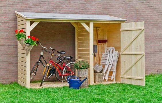 Auch Ein Geratehaus Darf Gut Aussehen Inspirationen Fur Sie Garten Unterstand Garten Gerateschuppen Garten