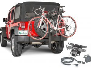 Quadratec 4 Bike Folding Bike Rack 2 Receiver Hitch Kit Bike