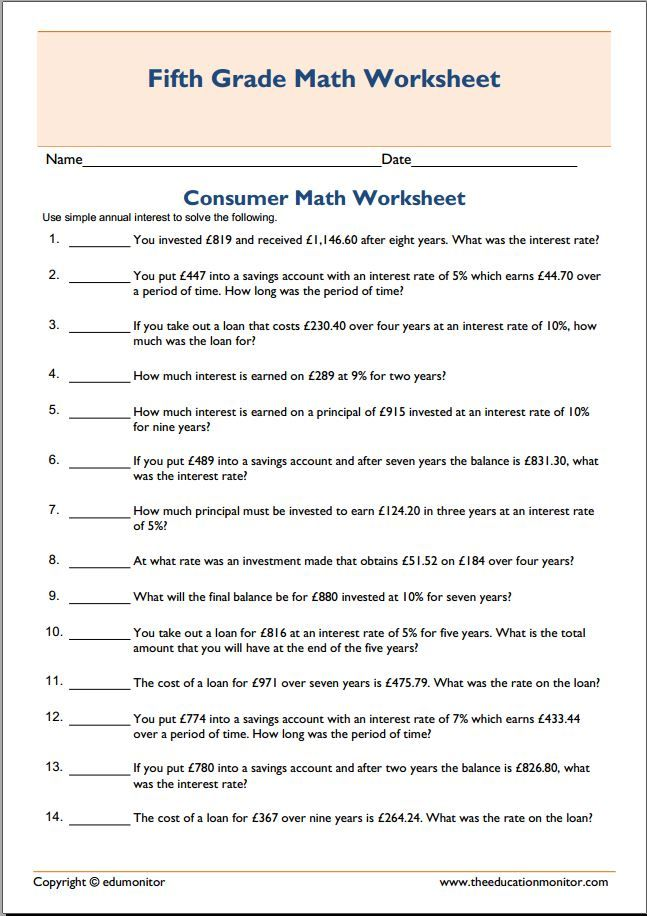 Homeschooling consumer math worksheet | Printable homeschooling ...