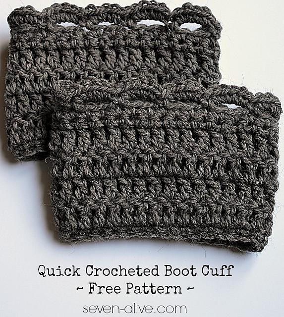 Crochet Patterns Galore - Quick Boot Cuff | Knitting & Crocheting ...
