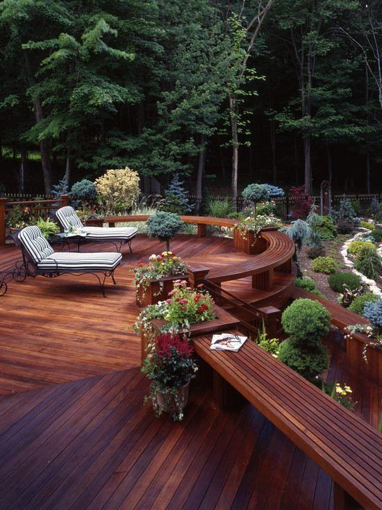 Fantastic wooden deck! Deck Ideas Pinterest Schmiedeeisen - whirlpool im garten selber bauen