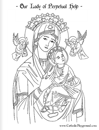 our lady of perpetual help coloring page june 27th