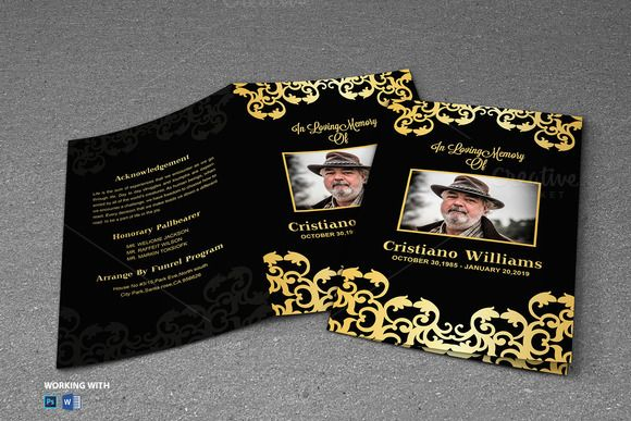 Printable Funeral Program Template Creativework  Brochure