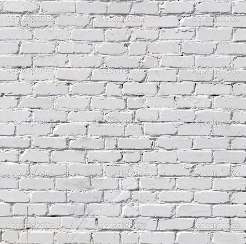 white painted brick, I'm all about textures